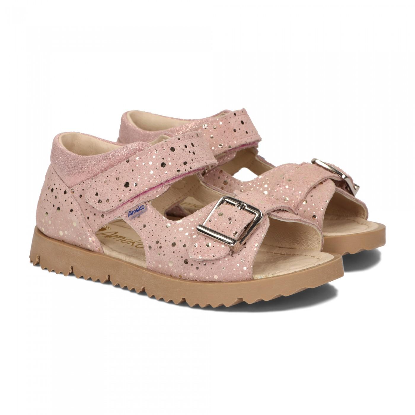 Sandały dziecięce-Clip-Różowe fleck