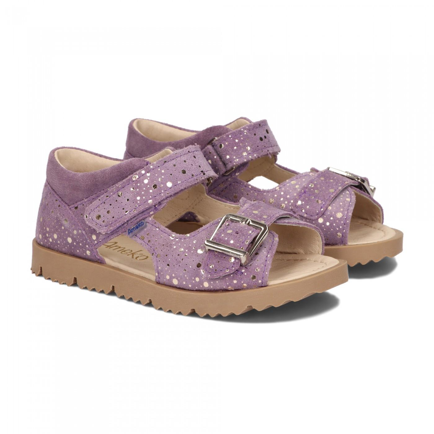 Sandały dziecięce-Clip-Lilac fleck
