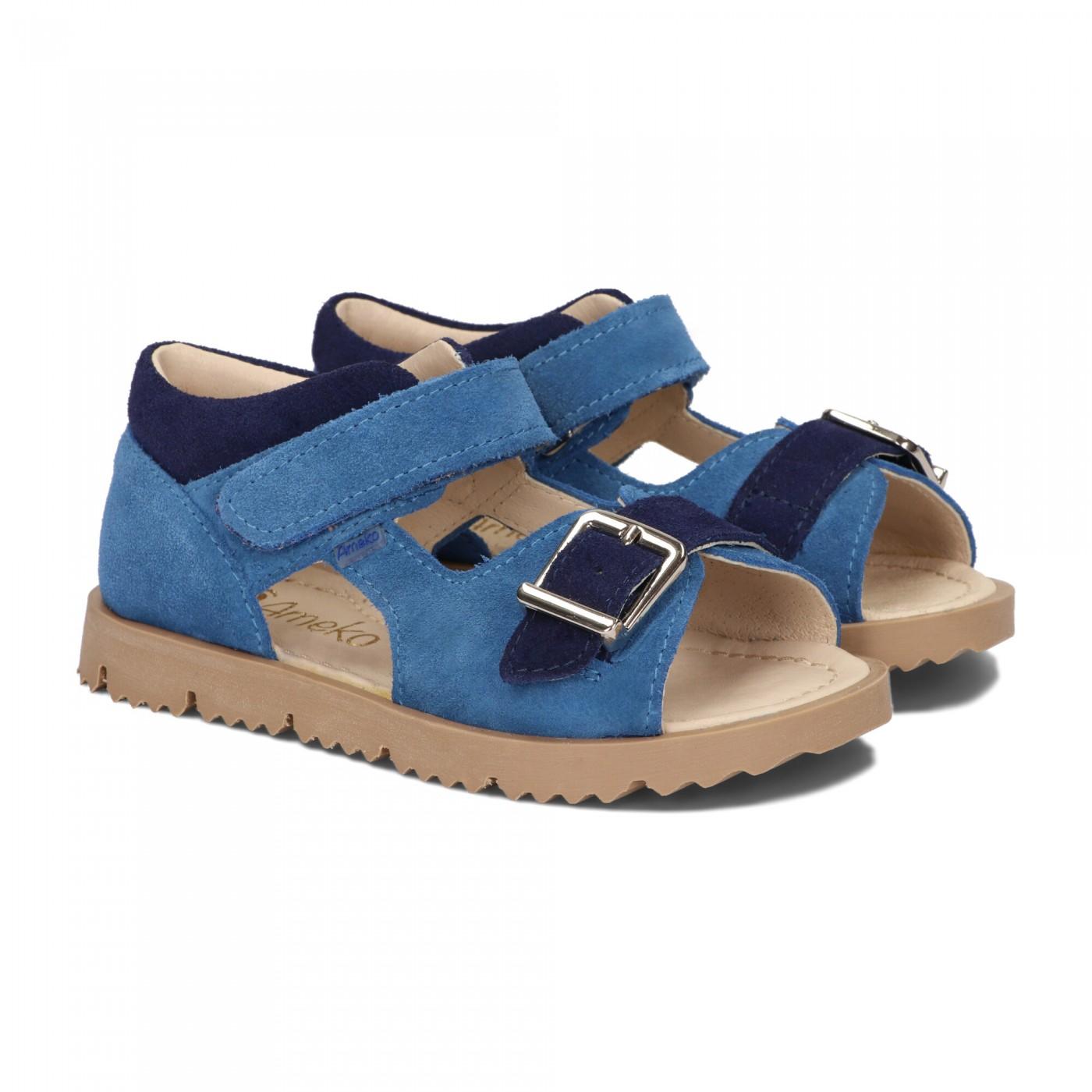 Sandały dziecięce-Clip-niebieski