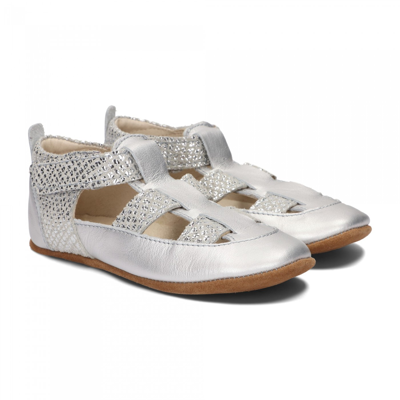 Pantofelki Barefoot srebrny