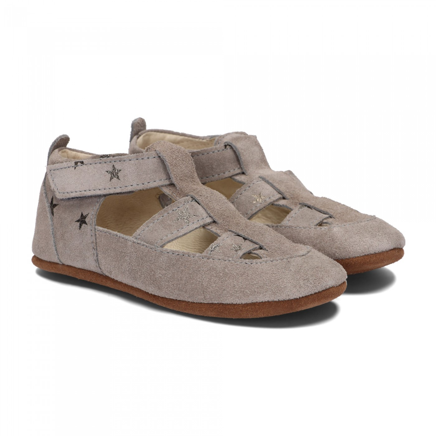 Pantofelki Barefoot szare gwiazdki