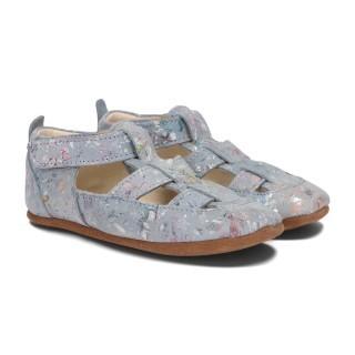 Pantofelki Barefoot jasnoniebieski kwiat