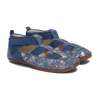 Pantofelki Barefoot niebieski kwiat