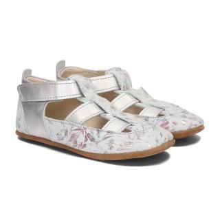 Pantofelki Barefoot biały kwiat