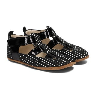 Pantofelki Barefoot czarne w kropki