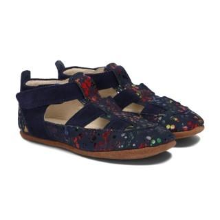 Pantofelki Barefoot granat kropki